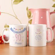90th Birthday Bunting Mug For Her