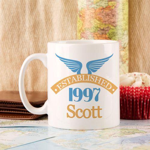 18th Birthday Established Since Mug For Him
