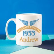 60th Birthday Established Since Mug For Him