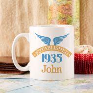 80th Birthday Established Since Mug For Him
