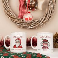 Mr & Mrs Claus Christmas Mugs