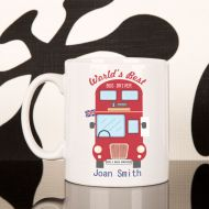 Personalised Local Double Decker Driver Mug