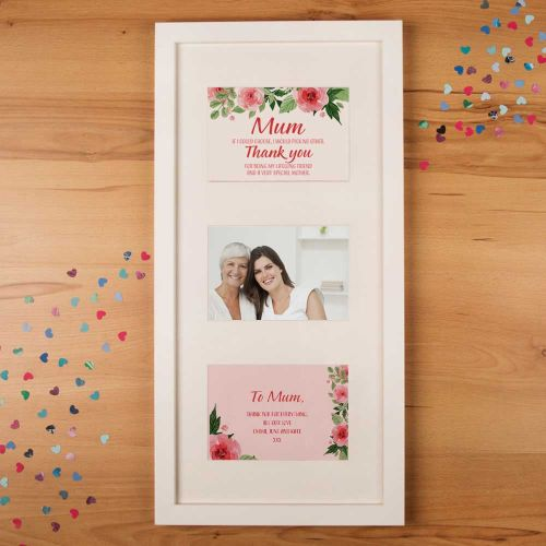 Personalised Floral Mothers Day Print 3 Aperture Frame