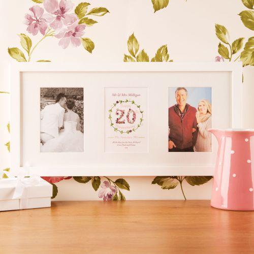 Premium Illustrated 20th China Anniversary Wall Frame