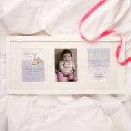 Personalised Baby and Child Memorial Print: Girl Angel Design 3 Aperture Frame