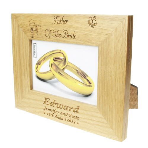 Personalised Father Of The Bride Photo Frame