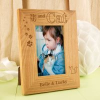Personalised Me and my Cat Oak Frame