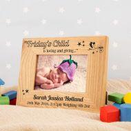 Personalised Fridays Child Oak Photo Frame