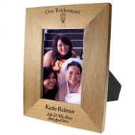 Portrait oak frame:Our Bridesmaid