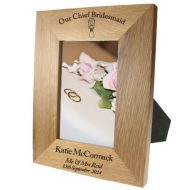Portrait oak frame:Chief Bridesmaid