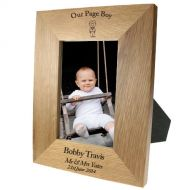 Portrait oak frame:Pageboy