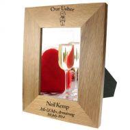 Portrait oak frame:Usher