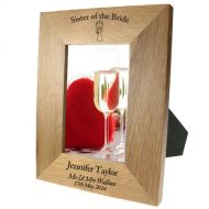 Portrait oak frame: Sister of the Bride