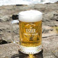 Cheers Usher Personalised Glass Pint Tankard