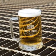 Customised Father of the Groom Glass Beer Tankard