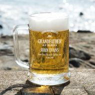 Personalised Grandfather of the Bride Glass Pint Tankard