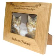 Engraved Photo Frame For Cats
