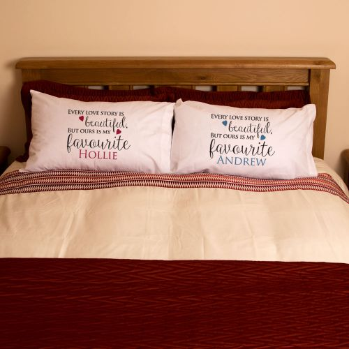Mr & Mrs Love Story Pillowcases