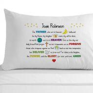 Personalised Lord's Prayer Pillowcase