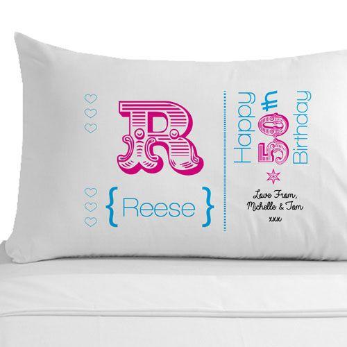Personalised 50th Birthday Pillowcase