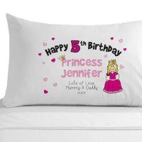 Personalised Birthday Princess Pillowcase