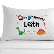 Personalised Birthday Dinosaur Pillowcase