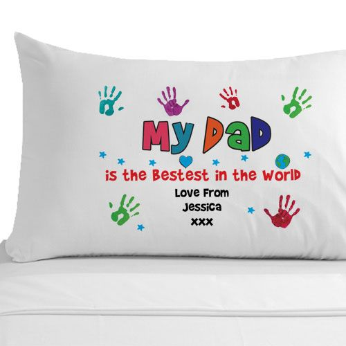 Personalised Bestest Dad Pillowcase