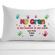 Personalised Bestest Gran Pillowcase