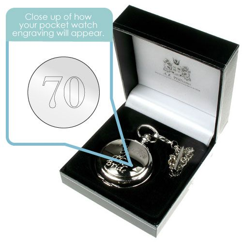 Engraved 70th Birthday Pocket Watch