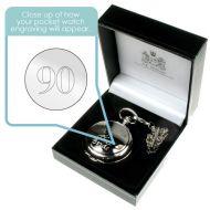 Engraved 90th Birthday Pocket Watch