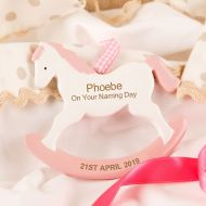 Naming Day Rocking Horse Ornament. Girl