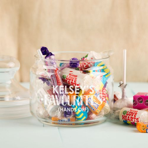 Personalised Favourite Sweets Glass Jar