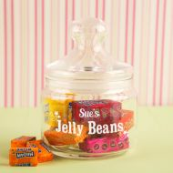 Personalised Jelly Beans Glass Sweet Jar