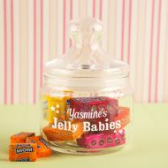 Personalised Jelly Babies Glass Sweet Jar