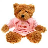 Personalised Brown Teddy Bear: Christmas