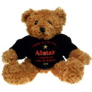 Personalised 40th Birthday Brown Bear: Blue Jumper