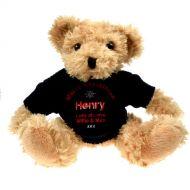 Personalised Light Brown Teddy Bear: Christmas