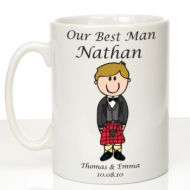 Personalised Mug for Best Man: Scottish