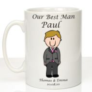 Personalised Mug for Best Man: Traditional
