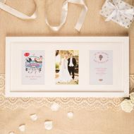 Premium Illustrated Wedding Wall Frame: Traditional Design