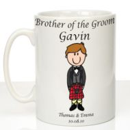 Personalised Mug for Brother of the Groom: Scottish