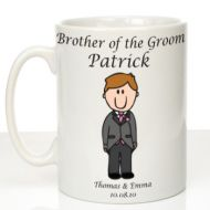 Personalised Mug for Brother of the Groom: Traditional