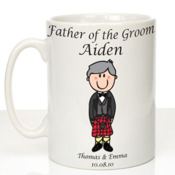 Personalised Mug for Father of the Groom: Scottish