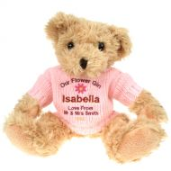 Personalised Teddy Bear for a Flowergirl