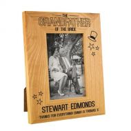 Grandfather of the Bride Stars Oak Frame