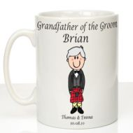 Personalised Mug for Grandfather of the Groom: Scottish