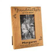 Grandmother of the Bride Floral Oak Frame