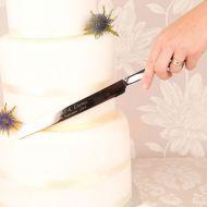 Engraved Wedding Knife: Heart Design