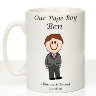 Personalised Mug for Page Boy: Traditional