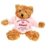 Personalised Sister of the Groom Brown Teddy Bear